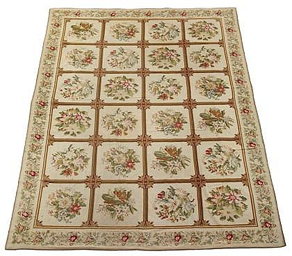 English needlepoint carpet, circa 1900,