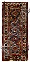 Gendje long rug, south central caucasus, 19th century, indistinctly dated and inscribed.