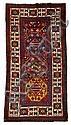 Kazak rug, southwest caucasus, circa late 19th century,
