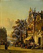 CORNELIS SPRINGER, (DUTCH 1817-1891), STREET SCENE WITH FIGURES