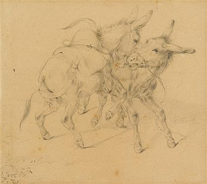 FOUR GERMAN DRAWINGS GERMAN SCHOOL, (18TH/19TH CENTURY), TWO SHEEP
