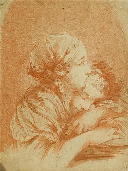 FRENCH SCHOOL, (18TH CENTURY), TWO YOUNG WOMEN