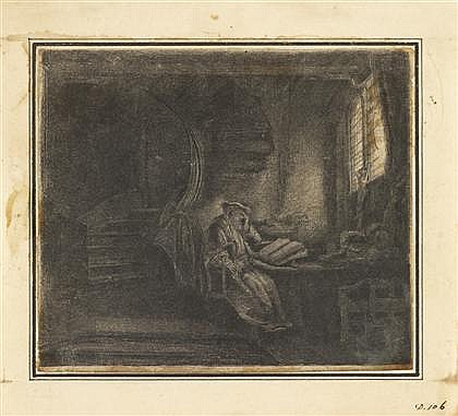 REMBRANDT VAN RIJN, (DUTCH 1606–1669), SAINT JEROME IN A DARK CHAMBER