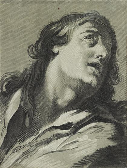 JEAN BAPTISTE HENRI DESHAYS, (FRENCH 1729-1765), HEAD OF A MAN