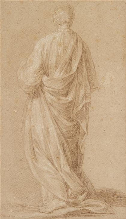 CHARLES ESCHARD, (FRENCH 1748-1810), DRAPED FIGURE