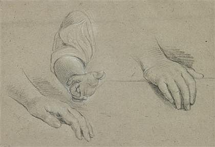 ATTRIBUTED TO EDME BOUCHARDON, (FRENCH 1698-1762), STUDY OF HANDS