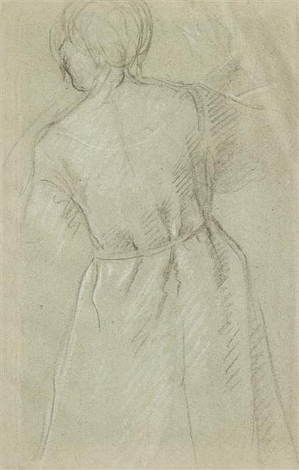 FRENCH SCHOOL, (18TH CENTURY), STUDY OF A WOMAN SEEN FROM BEHIND