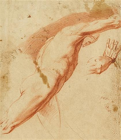 ATTRIBUTED TO MATTEO ROSSELLI, (ITALIAN 1578-1650), STRIDING MAN