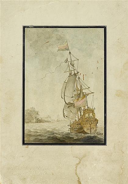 CIRCLE OF WILLEM VAN DE VELDE THE YOUNGER, (DUTCH 1633-1707), MERCHANTMEN AT SEA