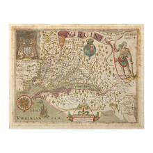 1 piece. Smith, John. Hand-Colored Engraved Map.