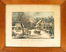 1 piece. Currier, Nathaniel; Ives, James M., pub. Hand-Colored Lithograph.