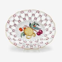 Chelsea porcelain trellis basket, circa 1760-65