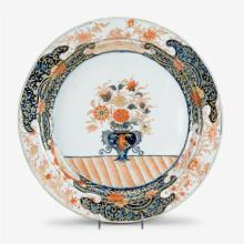 Large Chinese export porcelain Imari charger, 18th century