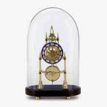 English brass skeleton clock, James Murray, London, circa 1830