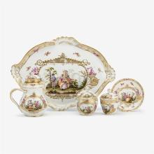 Meissen porcelain partial tête-à-tête, late 19th century