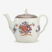 English porcelain teapot, second half 18th century