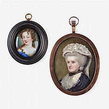 Attributed to Johann Heinrich Von Hurter (Swiss, 1734-1799), Portrait miniature of Lady Judith Milbanke, circa 1785