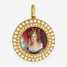 William Essex (English, 1784-1869), Portrait miniature of Princess Adelaide of Saxe-Meiningen