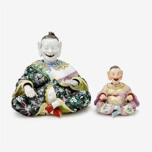 Meissen porcelain nodding pagoda figure, late 19th century