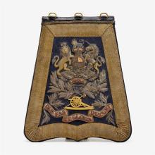 Royal English artillery sabretache, 1883-1901