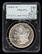 1881-S U.S. silver dollars, , 5 pcs.