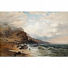 FRANK BRAMLEY, (BRITISH 1857-1915), ROCKY COAST