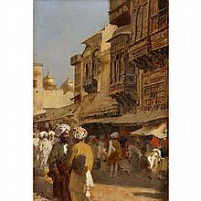 EDWIN LORD WEEKS, (AMERICAN 1849-1903), MARKET SCENE, LAHORE