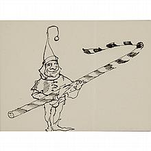 ANDREW WYETH, (AMERICAN 1917-2009), CHRISTMAS CARD WITH ELF