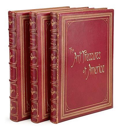 3 vols. The Art and Treasures of America, Being the Choiciest Works of Art in Public and Private Collections of North Americ...