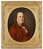 After Joseph-Siffred Duplessis (French, 1725-1802), portrait of benjamin franklin (1706-1790), Oil on canvas, framed.