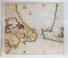 4 pieces. Hand-Colored Engraved Maps - Spain - Maiorca - Sicily: Bleau, W.
