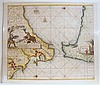 4 pieces. Hand-Colored Engraved Maps - Spain - Maiorca - Sicily: Bleau, W.