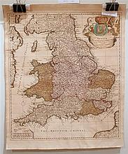 1 piece. Schenk, Pieter. Partly Hand-Colored Engraved Map.