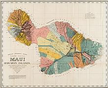 1 piece. Alexander, W.D. Color Lithographic Map.