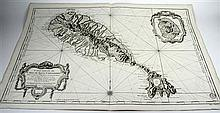4 pieces. Bellin, Jacques Nicolas. Engraved Maps: