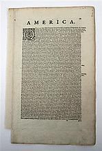 1 piece. Mercator, Michael. Engraved Map.