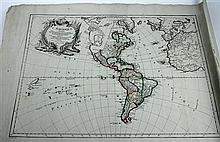 1 piece. Delafosse. Engraved Map with Outline Color.