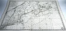 1 piece. Sartine, Antoine. Engraved Map.