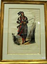 2 pieces. [McKenny, Thomas; Hall, James.] Hand-Colored Lithographs: