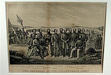 1 piece. (Civil War.) Bourquin, F. Tinted Lithograph.
