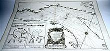 2 pieces. Bellin, Jacques Nicolas. Engraved Map.