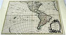 4 pieces. North & South America - Hand-Colored Engraved Maps: Janvier, [Robert].