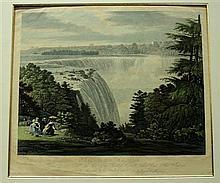 1 piece. Bennet, W.J. Hand-Colored Aquatint.