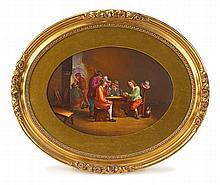 Sèvres style hand-painted porcelain plaque,
