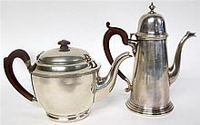 George V silver coffee pot, adie brothers ltd., birmingham, 1929-30, Of tapering cylindrical form raised on stepped circular foot with