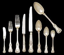 Scottish silver flatware service for twelve, mitchell & sons, glasgow, 1824-25,