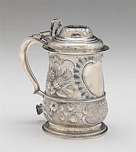 George II silver tankard, richard gurney & thomas cook, london, 1748-49, Baluster form raised on conforming circular foot, with all ove