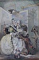 Edward Matthew Ward.  The Proposal Of Johnson And The Widow.  Signed with a monogram, watercolour. 54cm x 38cm., Edward Matthew Ward, Click for value