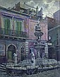 RALPH FABRI (American 1894-1975)  FOUNTAIN IN TAORMINA  signed, signed, inscribed and dated 7/11/67 verso, polymer..., Ralph Fabri, Click for value