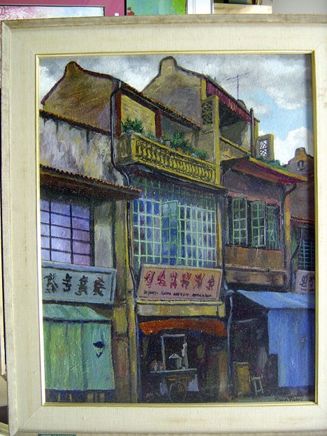 RALPH FABRI (American 1894-1975)  SINGAPORE #1  signed, signed and titled verso, oil on board 28 x 22 in.